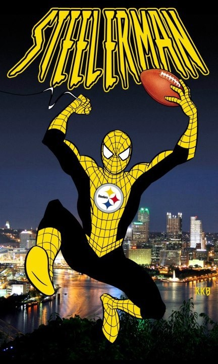 Steelers Spidey And Now All Of My Dreams Have Come True