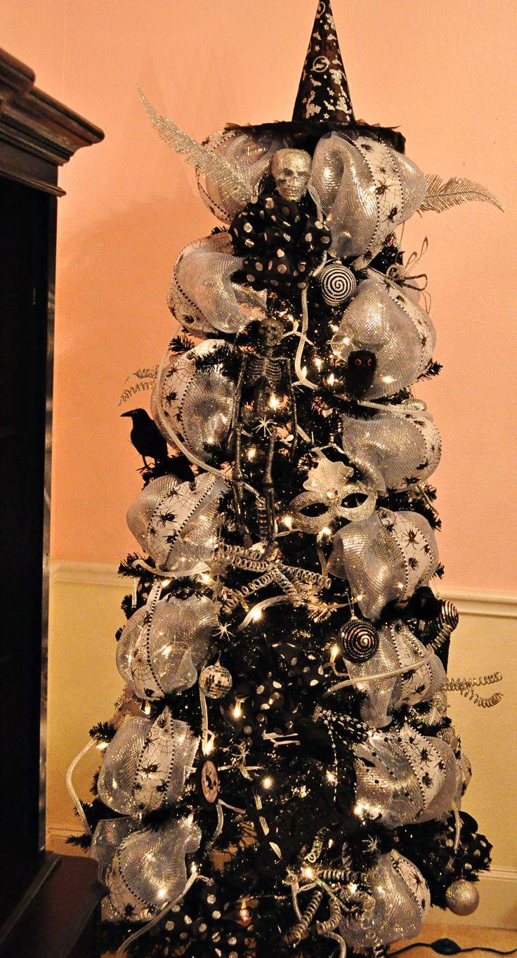 Halloween Tree would also be fun to use silver or white tree with black decorations ...with a few changes take it into Christmas .