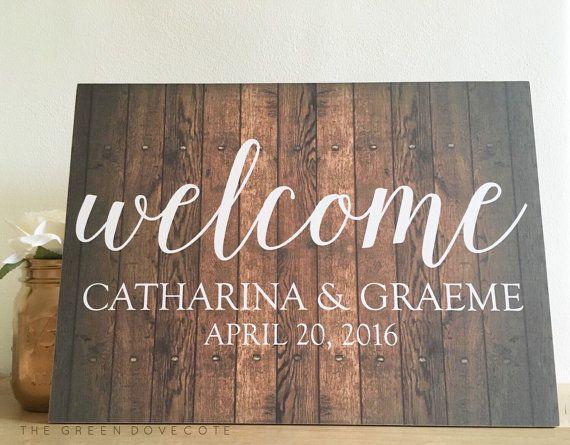 Willkommen Sie-Hochzeit Empfang von TheGreenDovecote auf Etsy