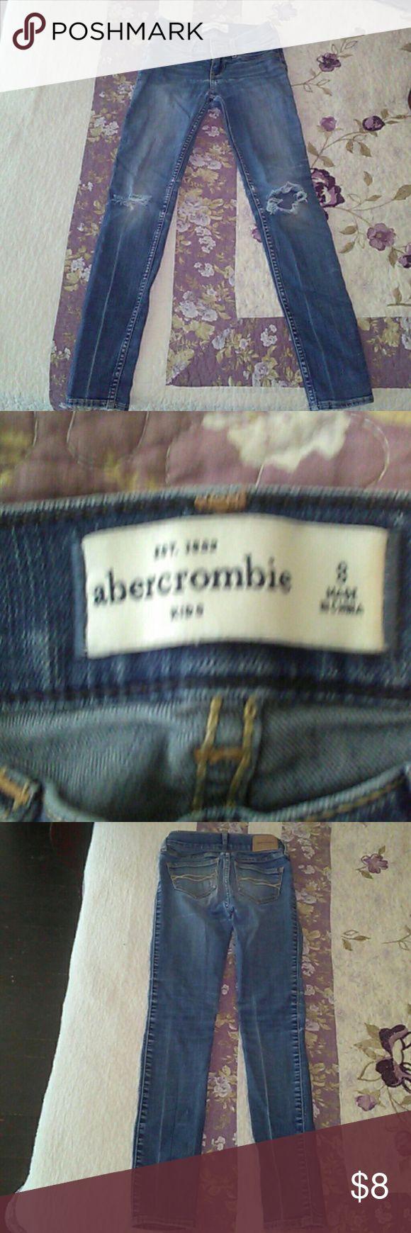 Girls Abercrombie Skinny Jeans Sz 8 Girls Abercrombie Skinny Jeans Sz 8. In great, used condition. abercrombie kids Bottoms Jeans