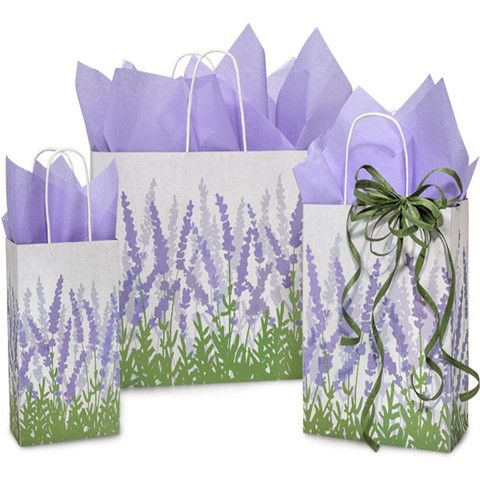 Paper Shopping Bags Lavender Fields - 100% Recycled Paper – B2BWraps.com