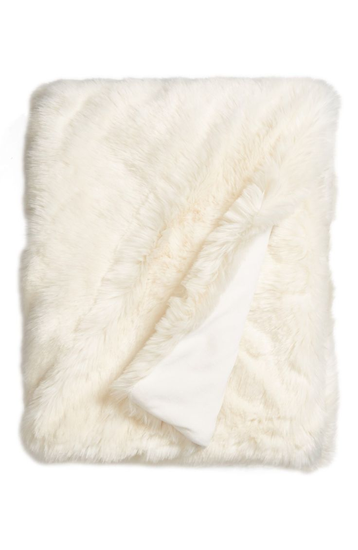 Faux Fur Throw Blanket.