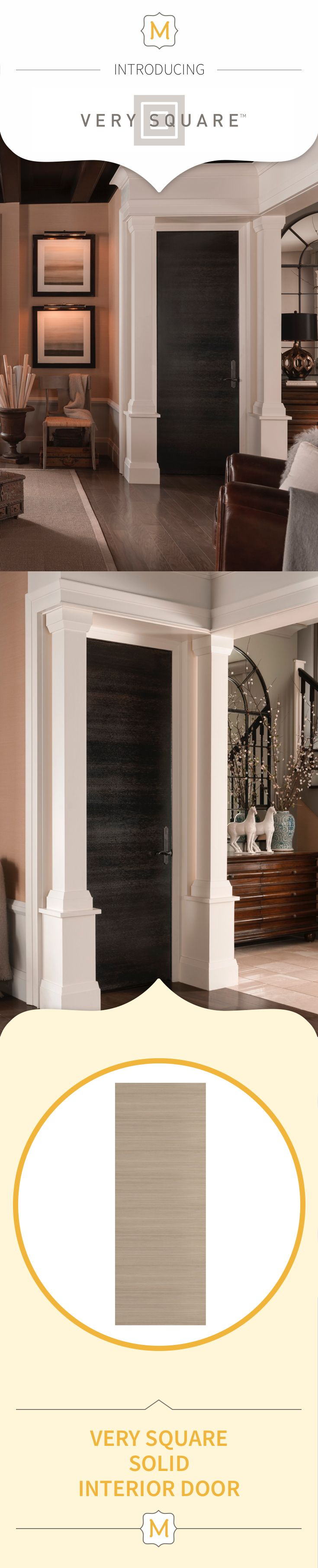 Even doors can bring an element of design to the room and these Metrie Very Square Collection interior doors make the whole room feel complete.