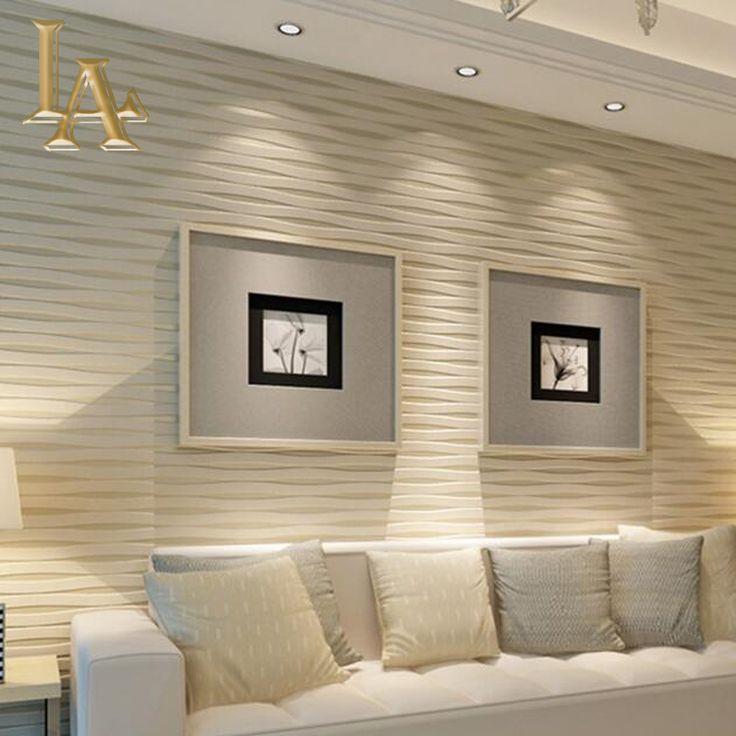 Современные Бежевый Горизонтальное Полосатый Обои 3D гостиная Стекаются Современные Роскошные Дома Полоса обои Rolls W392 купить на AliExpress