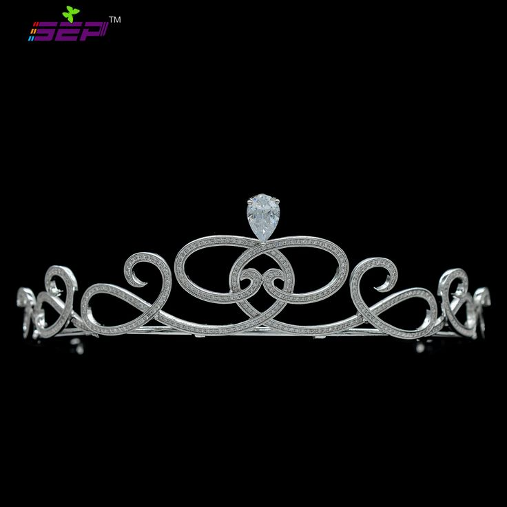 $32 Princess Royal Tiara Sparkly AAA CZ Crown Bridal Wedding Hair Jewelry Women Headpiece Accessories TR15110-in Hair Jewelry from Jewelry & Accessories on Aliexpress.com | Alibaba Group