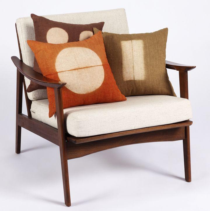 BZDesign Pillows On Mid Century Modern Chair