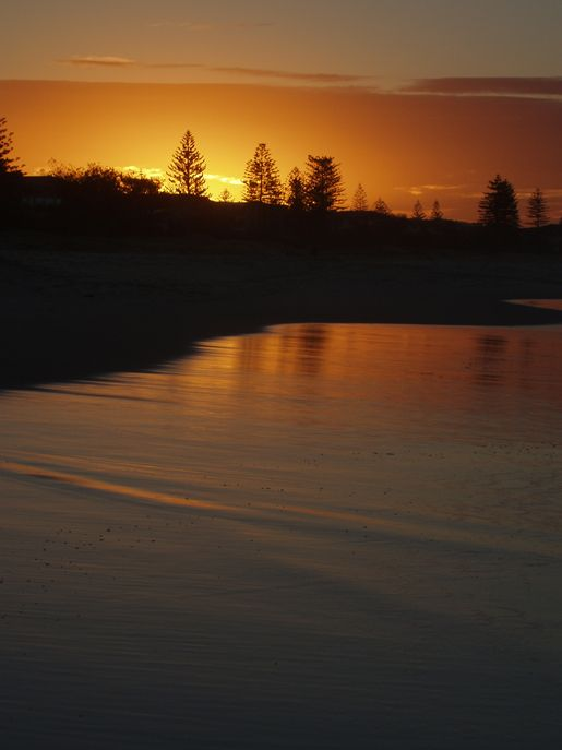 Faith Miles:  N'yunga gaian – Sun going down 2009. Faith Miles is a descendant of the Yugambeh people, Traditional Owners of the Gold Coast Queensland Australia and the valleys beyond.