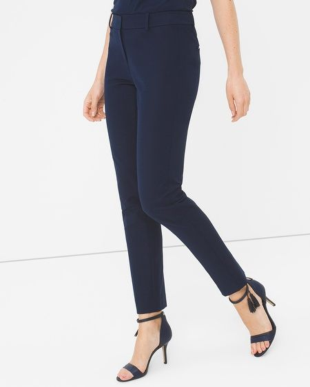 "Made from ultra-soft fabrication, this stretch-twill staple style offers the ultimate stretch and recovery. Your 7-day savior, our slim ankle pants move with you while flattering your figure. Plus, these slim pants have a cropped, ankle fit so they are perfect for flaunting your most strut-worthy footwear.  Slim ankle pants with classic rise  Hook-and-bar close; anchor button; zip fly Cotton/nylon/spandex. Machine wash, cold.   Regular inseams: 25"" short, 27.5"" regular, 29.5"" long  Petite…"