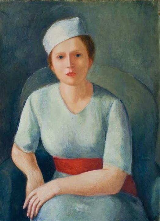 Virgilio Guidi - Donna dalla cintura rossa, 1929