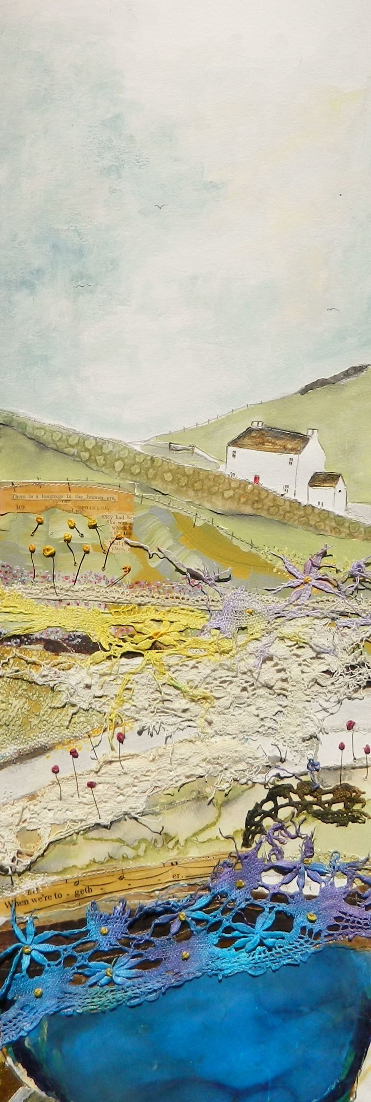 ''Up high on hill near meadow farm gate'' by Louise O'Hara
