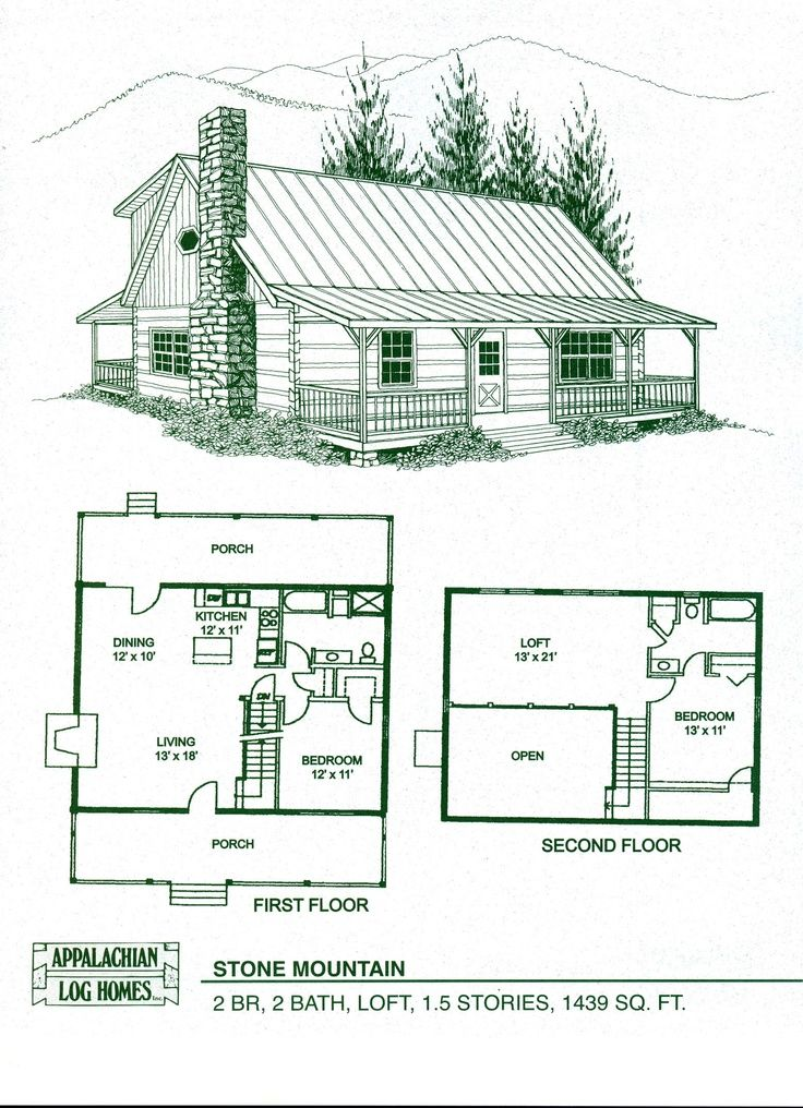 Cabin Floor Plans with Loft | cabin home plans with loft | Log Home Floor Plans - Log Cabin Kits ...