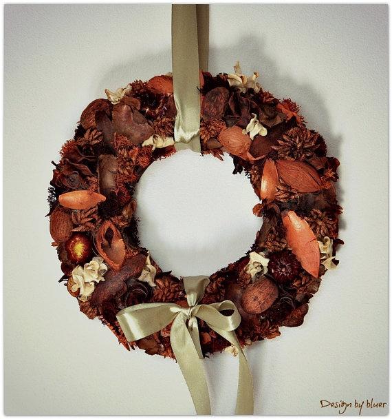 OOAK  Romantic harvest wreath  potpourri wreath to by bsospataki, $65.00