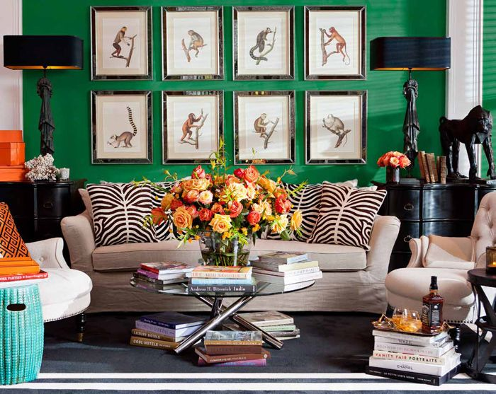 Living Room - bold colors and animal magnetism