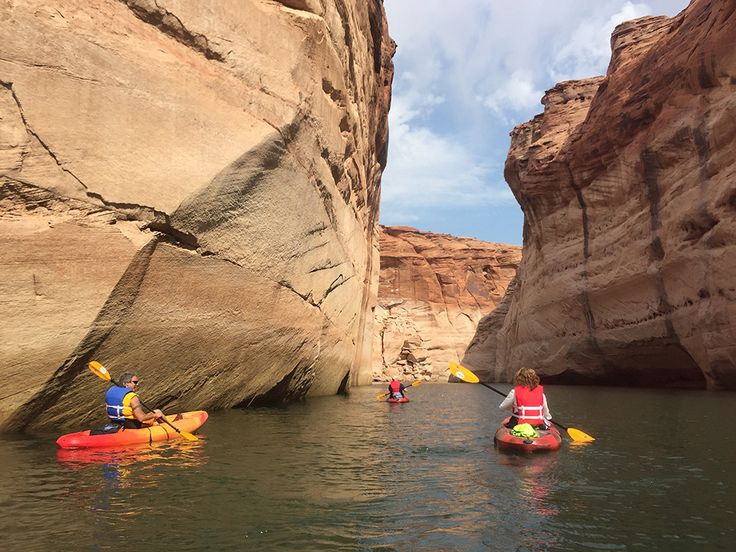 Our comfortable, easy to use sit-on-top kayaks are perfect for cruising the canyons of Lake Powell. Our kayaks are perfect for the explorer who likes to sit down and glide along. Kayak rentals incl…