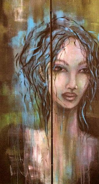 création Marie poirier....acrylique....format 24x48......