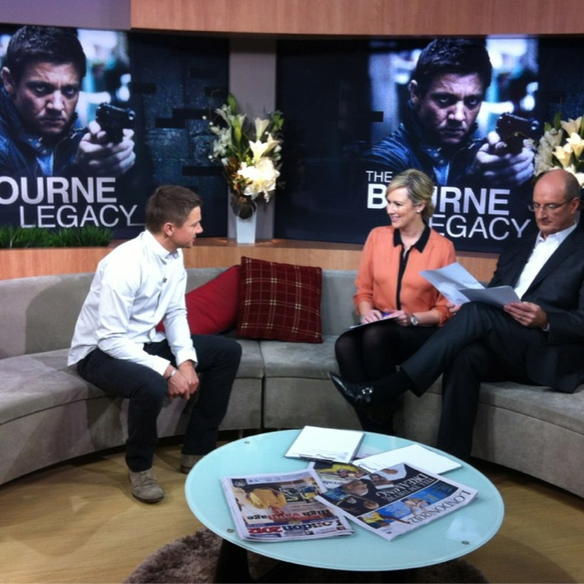 Mel Doyle gets to know new action hero Jeremy Renner, star of Mission Impossible 4, and now The Bourne Legacy.
