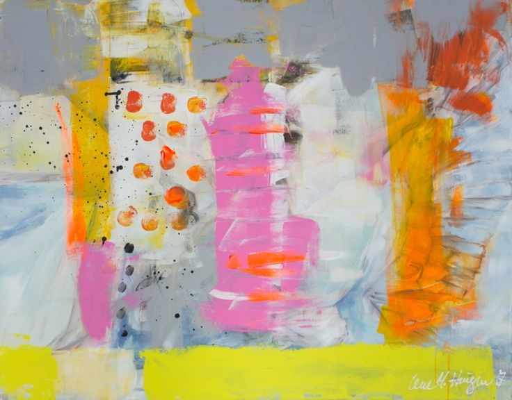 Dream Big. Abstract painting by Lene Merete Haugen