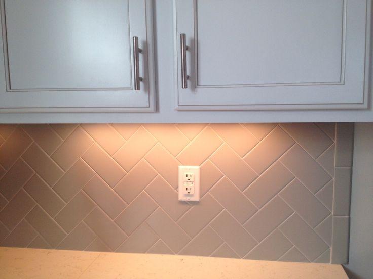 Best Herringbone Grey Backsplash Home Pinterest 400 x 300
