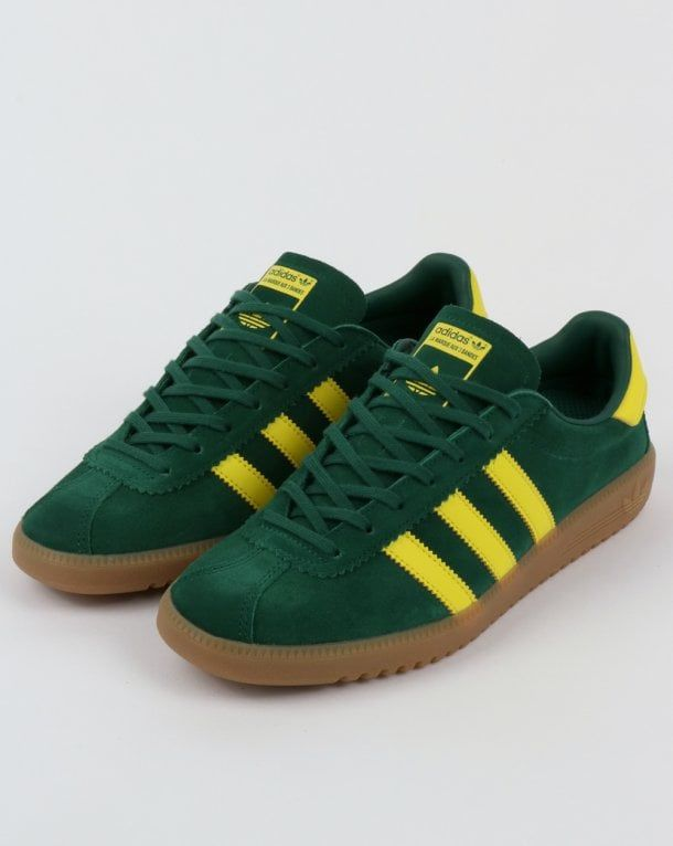 competitive price c64d0 48454 Adidas Bermuda Trainers Green Yellow