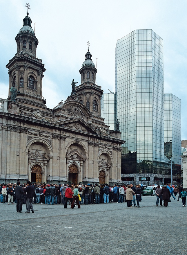 Santiago, Chile - Plaza de las Armas.  Great plaza for people watching....Ate lunch here many times.