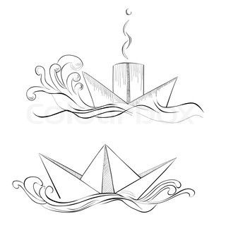 267 best chic ink images on pinterest tattoo designs tattoo pretty drawing of paper boat malvernweather Images