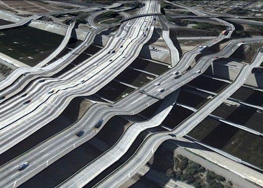 distorted bridges look like Dali art. neat!