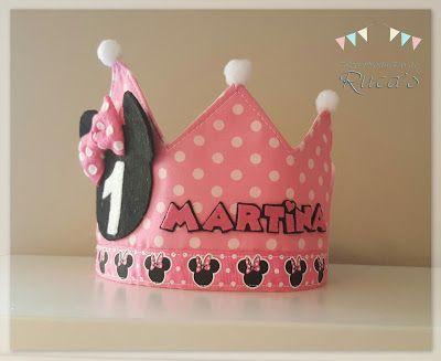 44 best coronas personalizadas images on pinterest - Cosas de minnie para cumpleanos ...