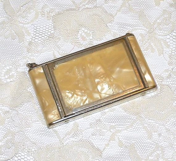 Vintage Vanity Compact Camera Style Powder Compact Girey