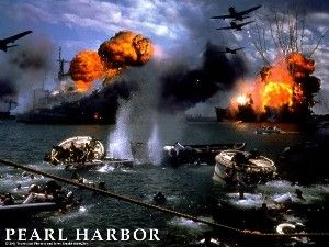 Picture of the attack on Pearl Harbor