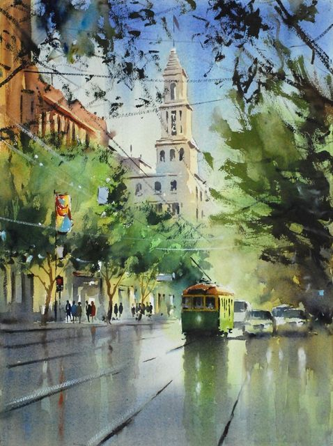 Contemporary Art Gallery Melbourne Australia :: Malcolm Beattie - Watercolourist :: 2