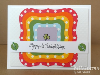 DeNami Rainbow St. Patrick's Day card by Lisa