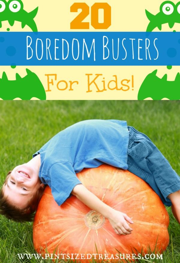 """20 Boredom Busting Activities for kids to get ,""""I'm bored!"""" out of their vocabulary. Fun, simple and creative, your family will love beating boredom! #kids #activities #boredom #parenting"""