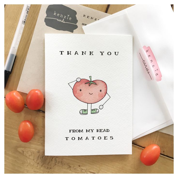 Vegetable Card // tomatoe card, vegetable decor, vegetable pun, pun, punny, thank you card, greeting card, thank you gift, funny card, vegan by kenziecardco on Etsy https://www.etsy.com/ca/listing/524126555/vegetable-card-tomatoe-card-vegetable