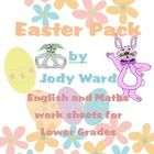 Easter Pack contains both Maths, English & Art activites for the lower grades. It has 16 pages in total.  Pg 1 Cover Page  Pg 2 Egg Symmetry  Pg 3...