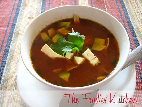 If you ever want to try a good Authentic Tortilla Soup recipe, this is it. It is full of flavor, and it is a meal all by itself. This is one of our guest's favorite soup, so we invited her to The Foodies' Kitchen to share the recipe she has used for years.