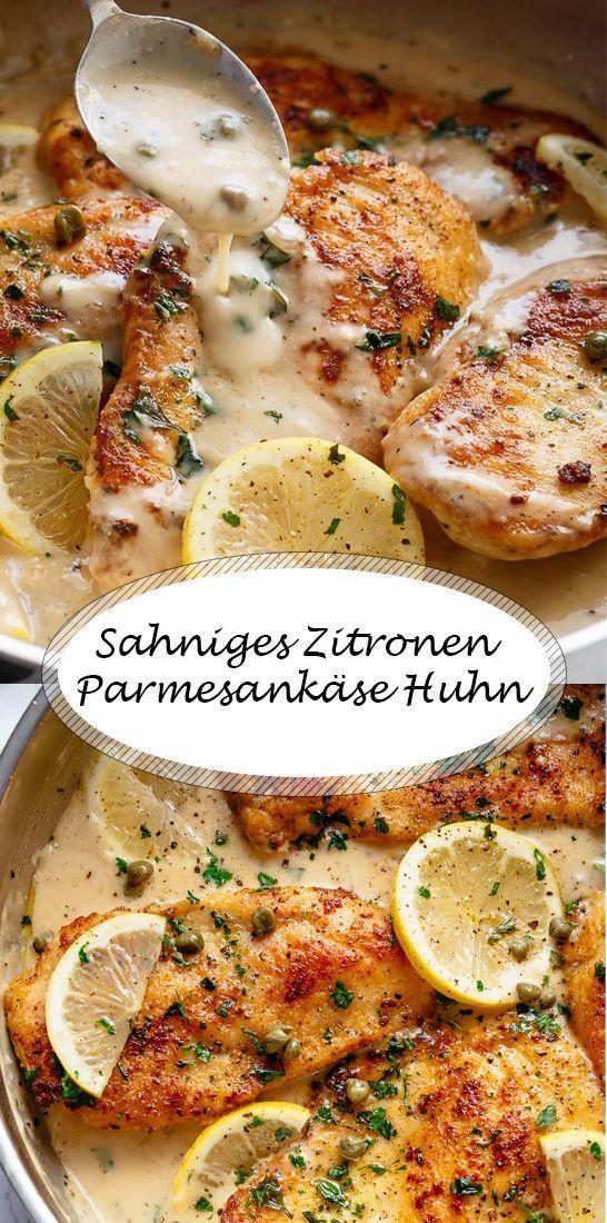 Sahniges Zitronen Parmesankäse Huhn  # Familienkost-Rezepte für Babys ab 8-10 Monaten und Kleinkinder