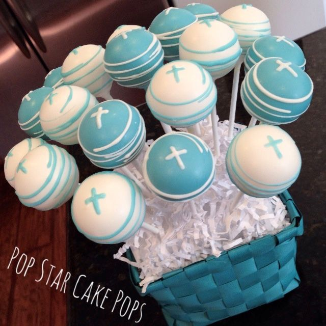 First Communion Religious theme cake pops