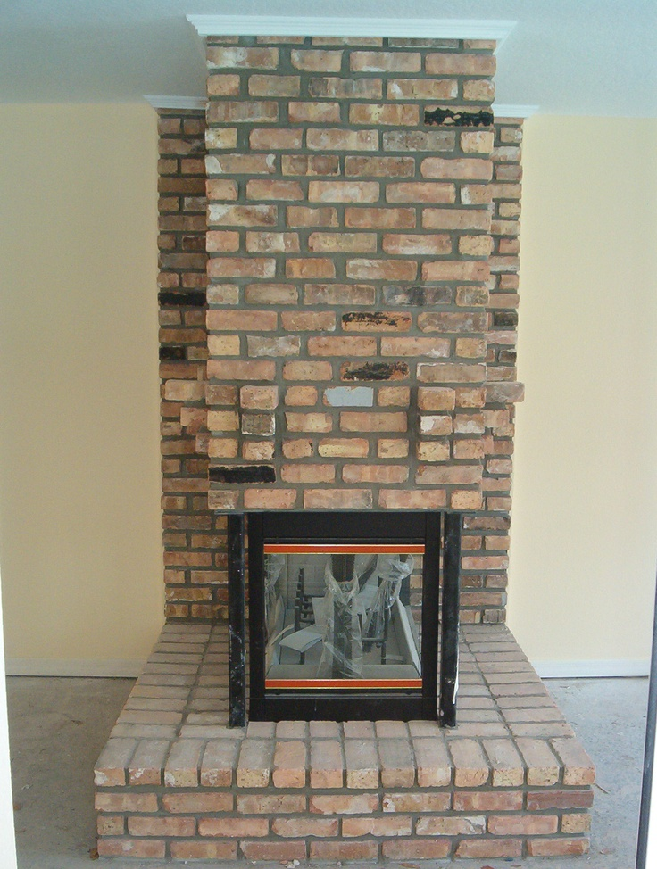 Custom Old Chicago Brick Fireplace Front View Mount Dora