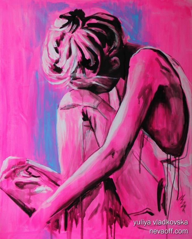 "Artist: Yuliya Vladkovska; Acrylic, 2012, Painting ""Feeling blue"", Julia Ciferno"