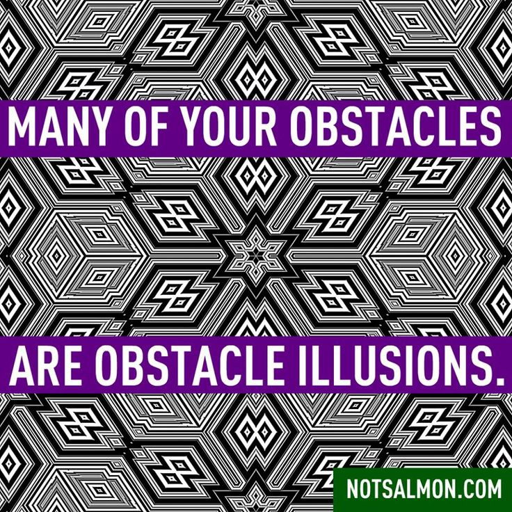 obstacle illusions... i see what you did there!  :)