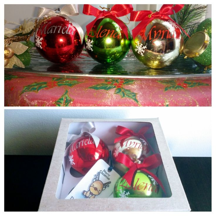 Todavía sin saber qué regalar? Te damos esta linda, práctica y original opción. Bolas navideñas personalizadas para sorprender a la familia, amigos, jefes, clientes.