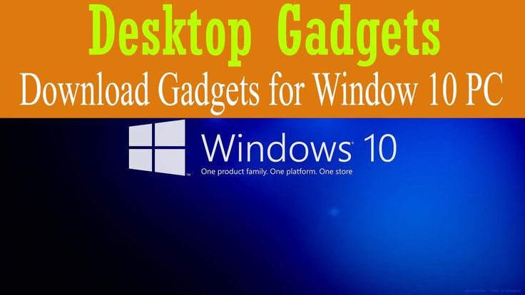 Download Weather and Clock Gadgets for Window 10 PC