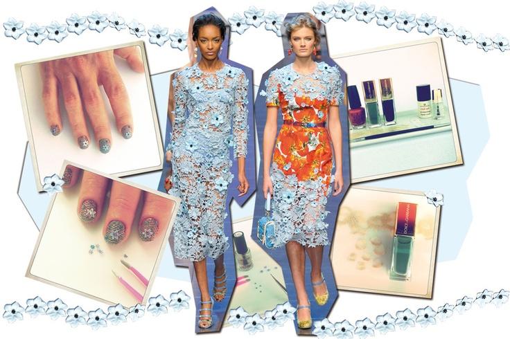 #Manicure #tutorial: ispirazione Dolce  www.grazia.it/bellezza/unghie/manicure-tutorial-pizzo-dolce-gabbana-lace