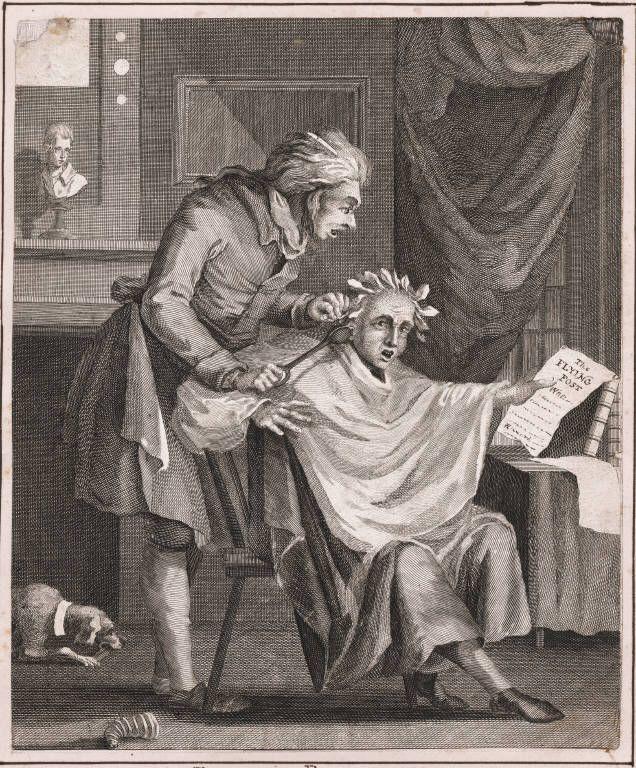 The Village Barber. L.M. [Licentiate of Medicine]Henry William Bunbury (1750-1811)