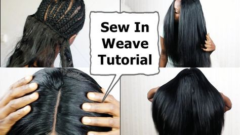Watch me Do Full Sew In WEAVE No Leave Out NO GLUE Tutorial BEGINNERS FRIENDLY [Video] - https://blackhairinformation.com/video-gallery/watch-full-sew-weave-no-leave-no-glue-tutorial-beginners-friendly-video/