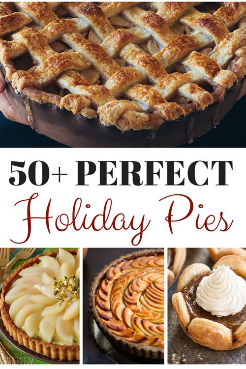 This collection of pies will be the perfect finish to your holiday meals. Oh, who are we kidding? We would take one of these homemade pies for dessert any night!