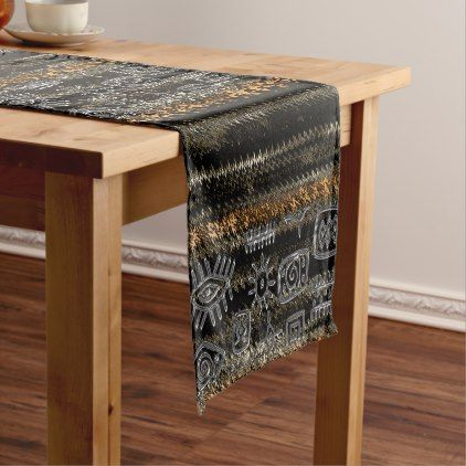 #Contemporary African Motif Design Short Table Runner - customized designs custom gift ideas