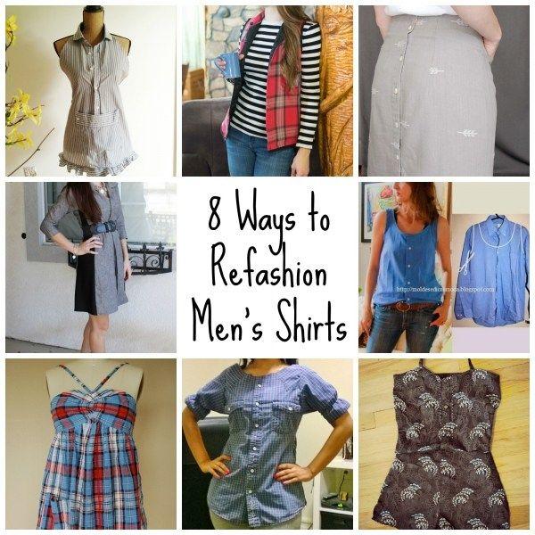 8 ways to refashion mens shirts