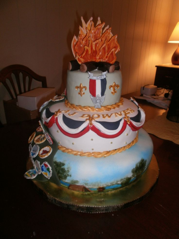 Cake Decorating Ideas For Boy Scouts : 63 best images about Eagle Scout Cakes on Pinterest Cake ...