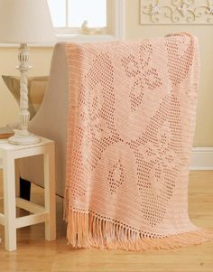 Filet crochet isn't just for doilies anymore! These eight charted designs for afghans finish quickly, with pretty images of birds in flight, easy geometrics, a delicate butterfly, or Art Deco florals.